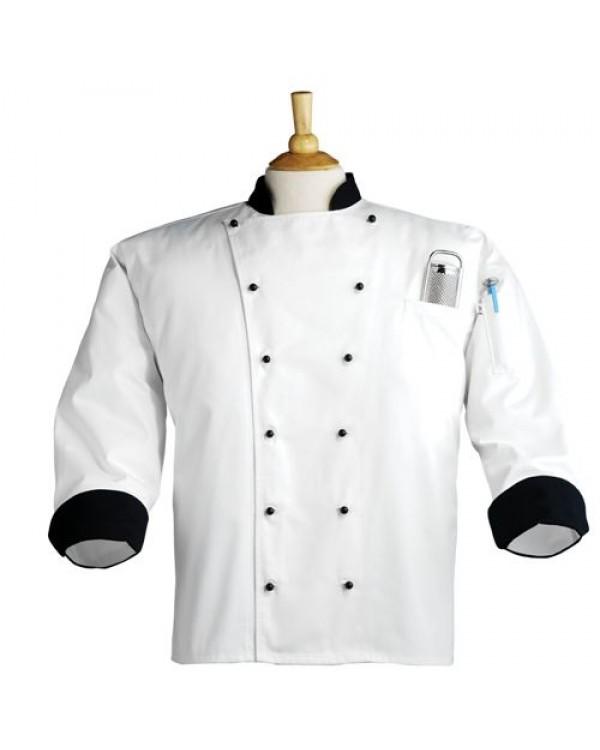 Siyah Hakım Yakalı Aşçı Forma Takımı