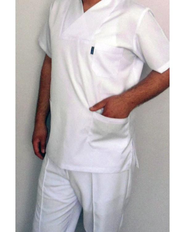 Beyaz Zarf Yaka Doktor Forma Takımı