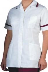 Bordo Biyeli Yeni Hemşire Forması