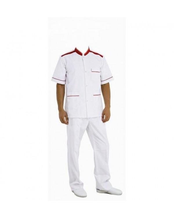 Kırmızı Biyeli Aşçı Forma Takımı